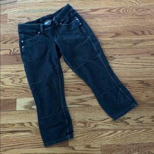 Athleta Black/Dark Gray Bettona Capri Pants